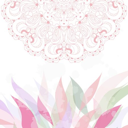 Spring greeting card with lace vector eps 10 Stock Vector - 21160029