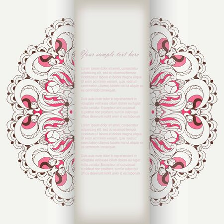 Invitation card with lace vector eps 10 Vector