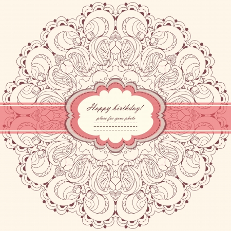 Invitation card with lace vector eps 10