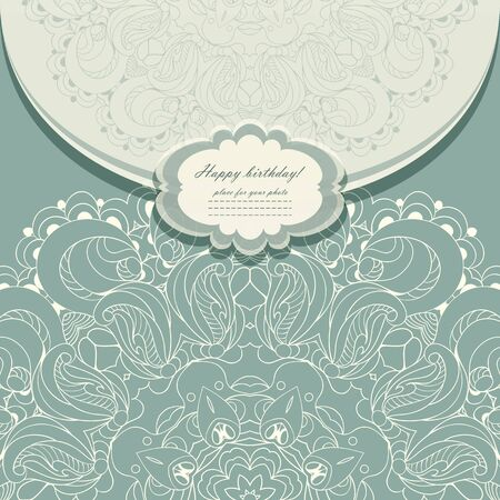 Beautiful invitation with lace vector eps 10 Stock Vector - 21160040