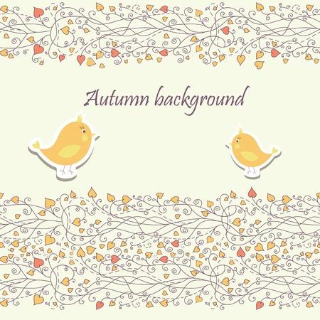 Baby card with bird  Stock Vector - 22602576