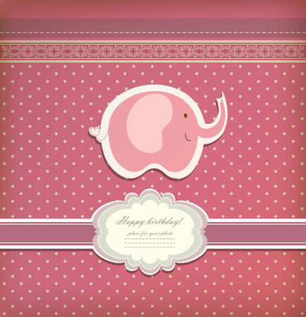 Vintage doodle elephant for frame wallpaper vector  Vector