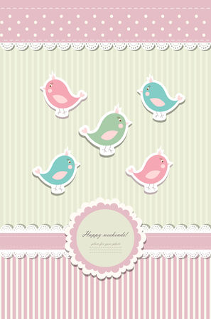 Beautiful baby vintage greeting card vector eps 10 Stock Vector - 23978284