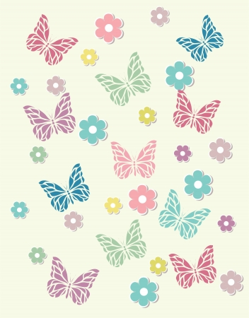 trifolium: Beautiful baby vintage greeting card vector Illustration