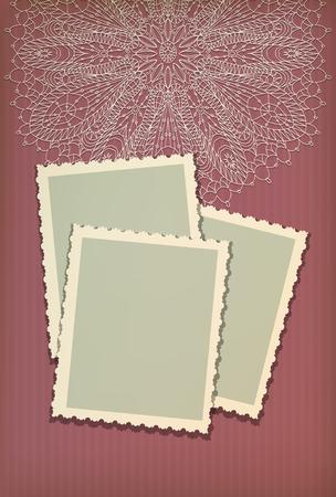 Beautiful vintage greeting card vector Vector