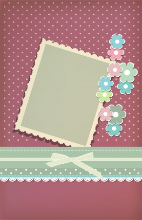 wedding photo album: Beautiful vintage greeting card vector  Illustration