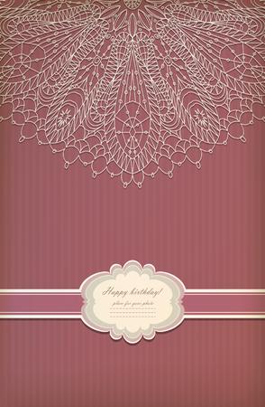 Beautiful vintage greeting card vector eps 10 Vector