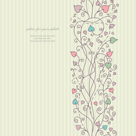 Hand floral greeting card vector  Vector