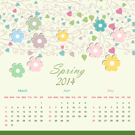 Calender of 2014 year vector eps 10 Vector