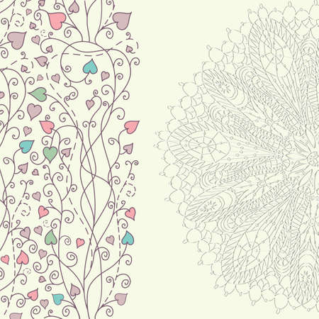 Greeting background with lace   Vector