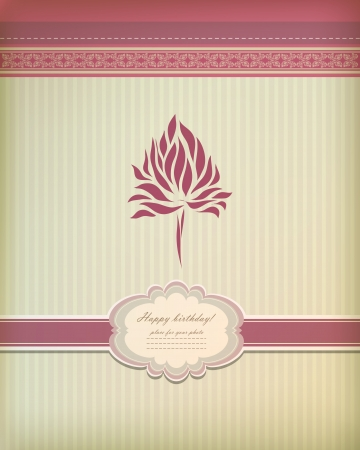 Beautiful vintage greeting card  Vector