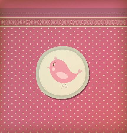 Beautiful baby vintage greeting card vector eps 10 Vector