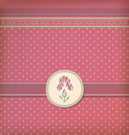 Beautiful vintage greeting card vector eps 10 Vector