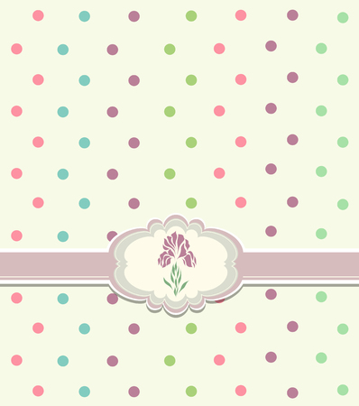 Beautiful vintage greeting card vector  Vector