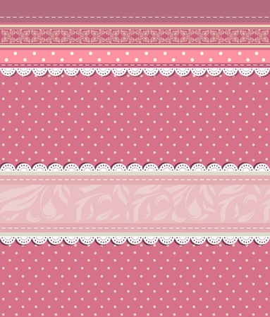 Vintage floral red background vector eps 10 Vector