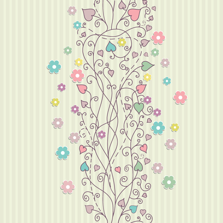 Vintage floral card background vector eps 10 Vector