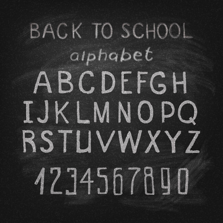 old style lettering: Hand drawn watercolor alphabet vector eps 10