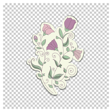 trifolium: Doodle colorful template with element of design. Vector illustration in abstract style Illustration