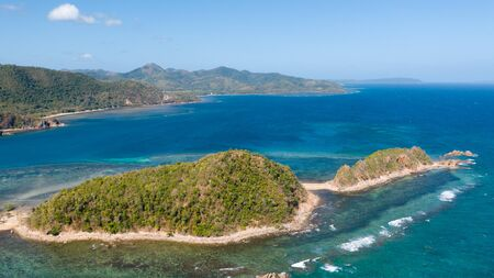 Beautiful archepilag with coral reefs.Tropical islands, view from above. Philippines, Palawan Reklamní fotografie