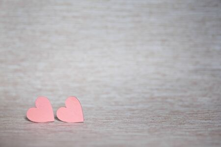 Two hearts. Background for congratulations with pink hearts. Valentines Day. Stok Fotoğraf
