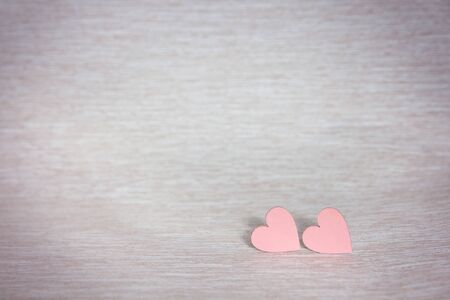 Two hearts. Background for congratulations with pink hearts. Valentines Day. Reklamní fotografie