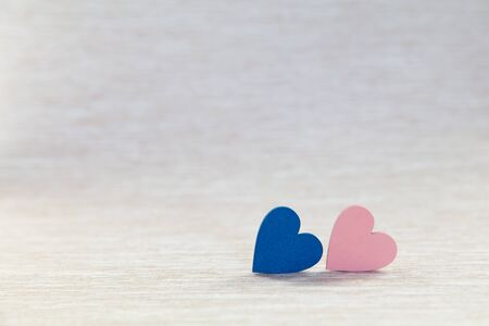 Two hearts, background for greetings on Valentines Day.
