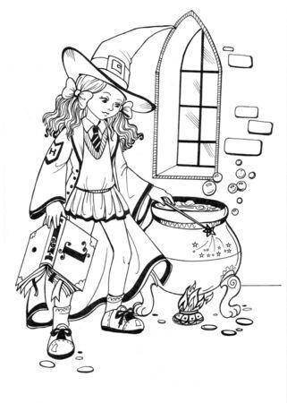 pretty witch Stock Photo - 4884182