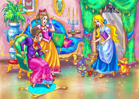 illustration of the fairy tale cinderella Stock Illustration - 5870901
