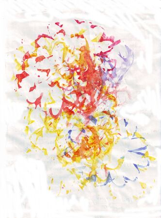 Illustration of abstract flowers  on the white  background.