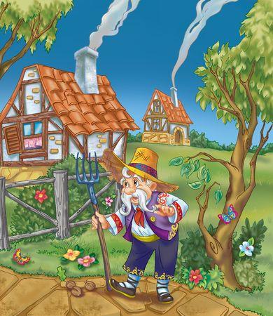 pitchfork: Old farmer