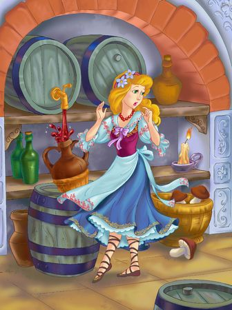 house mouse: Fairytale beauty  in the cellar Stock Photo