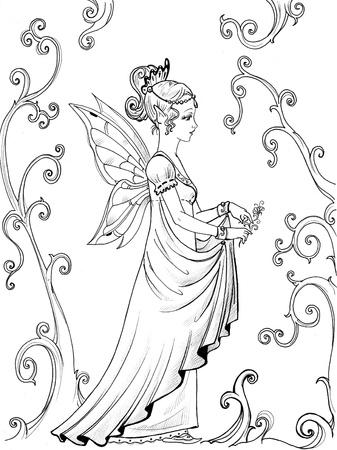 elf queen: fairy princess in the garden Stock Photo