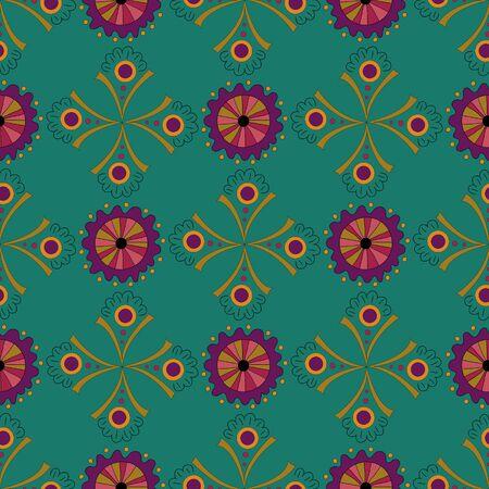 アメージングシームレスパターン緑の背景。