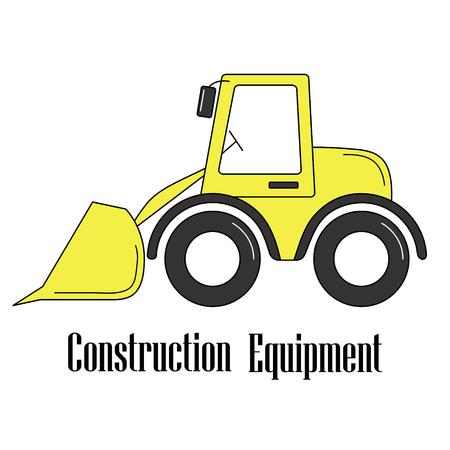 Illustration of the bulldozer.