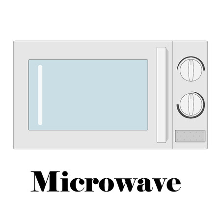 Color vector illustration of the microwave.