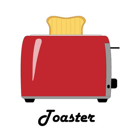 トースターのカラーベクトルイラスト。  イラスト・ベクター素材