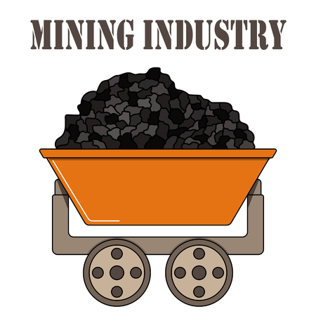 Color illustration for the mining industry on a white background.