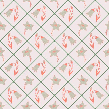 Flower design tiles Illustration
