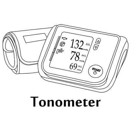 Vector illustration of the medical tool Tonometer.