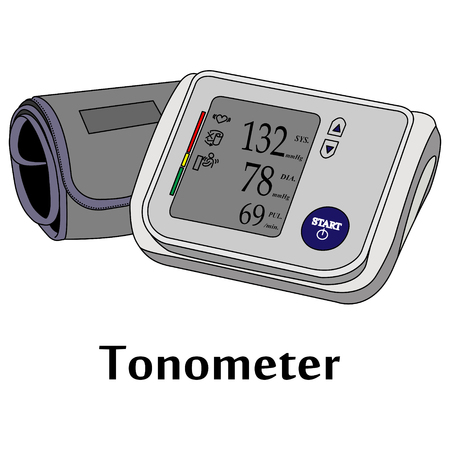 Vector illustration of the medical tool. Tonometer.