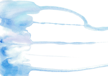 Gentle light blue watercolor smudges. A background for design.