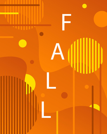 Artistic fall modern background in memphis style. The abstract background is suitable for typographic products, web-design, and decoration of objects. 向量圖像