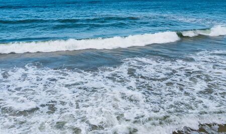 Seascape in small waves. Baltic sea in Sunny windy weather.