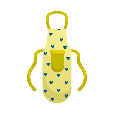 Kitchen apron in the hearts. Isolated flat vector illustration. Illustration