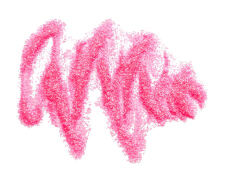 Smear small sparkling sequins on a white background. Pink glitter Imagens
