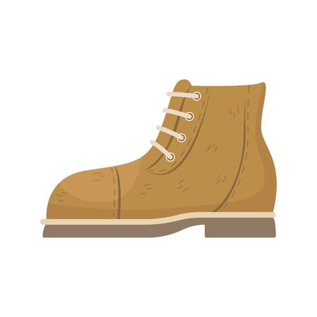 Fashionable suede boots are unisex. Vector illustration.