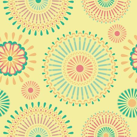 Vector seamless pattern with African ornaments. Authentic background. Foto de archivo - 139389221