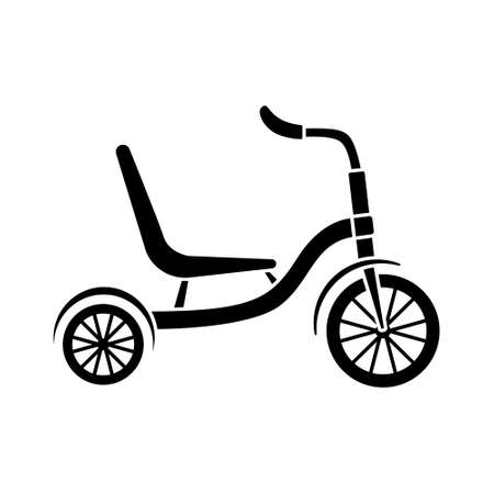 Vector illustration of tricycles. Cycling. Active lifestyle.