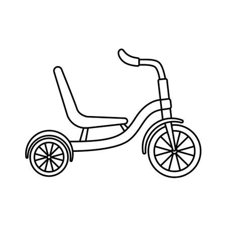 Vector illustration of tricycles. Cycling. Active lifestyle. Imagens - 164469732