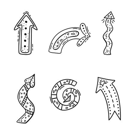 A set of doodle arrows for your design. Template. Imagens - 164976167